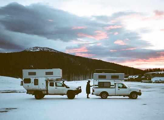 foster hunington alabama hills flat bed toyota tacoma truck camper