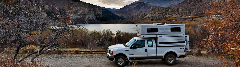 four wheel popup truck camper hawk shell model lake powell