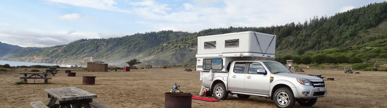 popup-truck-camper-north-coast-beach-camping-toyota-tacoma-4x4